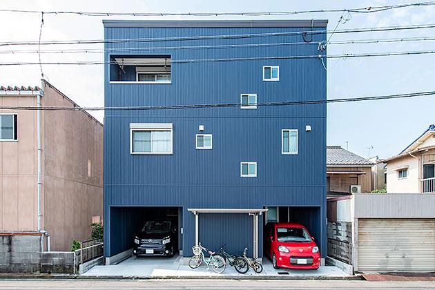 狭小地を最大限活かした3階建て住宅